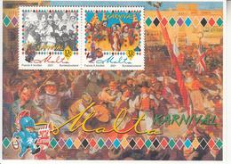 2001 Malta Carnival Festival Souvenir Sheet MNH - Malta