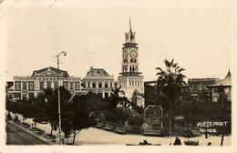 Iquique, Plaza Prat,Teatro,  Real Photo - Chile
