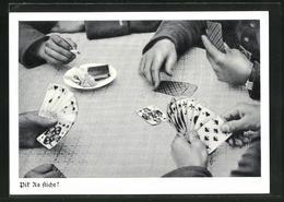 AK Pik As Sticht!, Soldaten Spielen Karten - Spielkarten