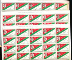 KATANGA  TSHOMBE RED CROSS MAP COB 66/68 SHEETS COMPLETE SET X25 MNH - Katanga