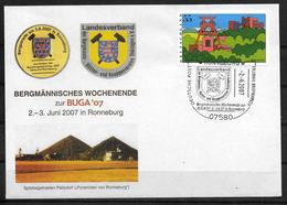ALLEMAGNE   Lettre 2007 Ronneburg    Mine Charbon  Fer - Sciences