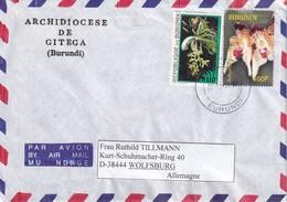 BURUNDI LETTRE DE GITEGA THEME ORCHIDEES - Autres