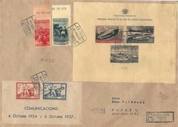 1939.- SOBRE CERTIFICADO DE TANNGER A ALEMANIA CON ED. Nº NE 55B, NE 55C, HB 781 S (SIN DENTAR) Y - 1931-Hoy: 2ª República - ... Juan Carlos I