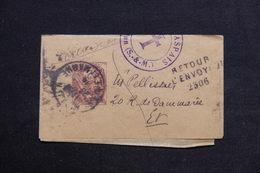 FRANCE - Bande Journal Type Blanc De Melun En Port Local Et Retour En 1914 - L 28854 - Biglietto Postale