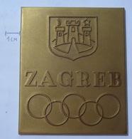PLAQUE SOFKZ ZAGREB 1963 ZA OSVOJENO DRZAVNO PRVENSTVO   KUT - Sports
