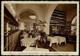 "Ref 1288 - Italy Postcard - ""Sacco"" Ristorante Rosticceria - Via Rome Genova Genoa - Genova (Genoa)"