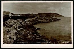 Ref 1289 - Real Photo Postcard - Greystones Beach & Bray Head - County Wicklow Ireland Eire - Wicklow