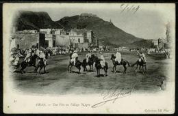 Ref 1289 - 1904 Algeria Ethnic Postcard Une Fete Au Village Negre Oran 5c Rate To Hartland Devon - Oran