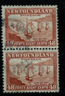 Ref 1289 - Canada Newfoundland 1938 48c - SG 228c 2 Used Stamps Cat £20+ - Newfoundland