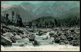 Ref 1290 - Early New Zealand Postcard - Junction Of Jordan & Paui-Paui Rivers Kaikoura - New Zealand