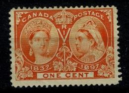 Ref 1290 - Canada 1897 Jubilee 1c Orange - Mint Stamp SG 112 - Cat £12 - Unused Stamps