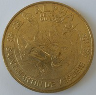 Jeton - Touristique - Monnaie De PARIS -2008 - ALPHA - Le Temps Du Loup - SAINT-MARTIN DE VESUBIE - - Monnaie De Paris