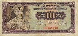 Billet Yougoslavie 1000 Dinars Année 1955 71a VF - Yougoslavie