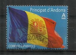 La Bandera D'Andorra Any 1866.  Année 2019, Oblitéré 1 ère Qualité - Usados