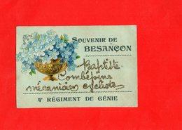 F0605 - Souvenir De BESANCON - 25 - 4e Régiment Du Génie - Découpie - Besancon