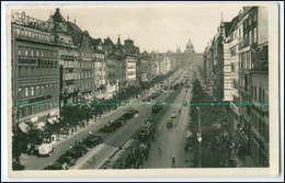 N9367/ Prag Praha Wenzelplatz Straßenbahn Foto AK Feldpost 1939 - Tschechische Republik