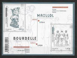 France 2011 Bloc Feuillet N° F4626 Neuf Antoine Bourdelle Et Aristide Maillol à La Faciale - Blocchi & Foglietti