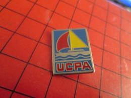 513f Pins Pin's  / Rare & Belle Qualité / THEME SPORTS : UCPA VOILIER VOILE Mais Pas Islamique !! - Sailing, Yachting
