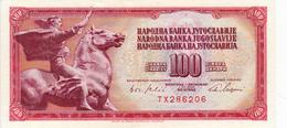 Billet Yougoslavie 100 Dinars Année 1965 80b AU Neuf - Yougoslavie
