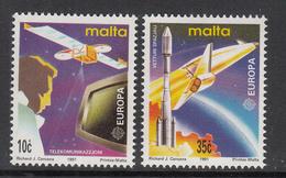 1991 Malta Sppace Europa Rocket Complete Set Of 2 MNH - Malta