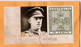 Australia 2015 Victoria Cross Winners 28 George Howell WW1 1st Battalion, Bullecourt, France On Domestic Letter - Lettres & Documents