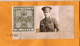 Australia 2015 Victoria Cross Winners 15 William Dartnell WW1 25th Battalion, Kenya On Domestic Letter - Lettres & Documents