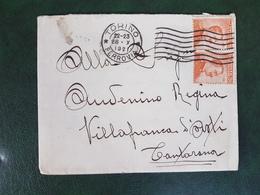 (37072) STORIA POSTALE ITALIA 1921 - Storia Postale