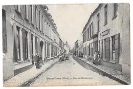 GRAVELINES - Rue De Dunkerque (vue Animée, Estaminet, Attelage) - Gravelines