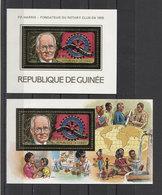 Guinea Rotary P.P.Harris 1984 Mi Bl#103-104 MNH - Rotary, Lions Club