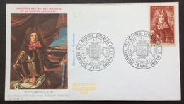 D396 Journées Des Oeuvres Sociales De La Marine 600 Tourville Ministère De La Marine 1-2/12/1973 - Postmark Collection (Covers)