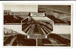 CPA- Carte Postale Royaume Uni - Folkestone - Multivues -- VM2891 - Folkestone