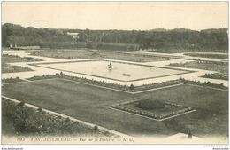 77 FONTAINEBLEAU. Le Parterre. Tampon Militaire 1919 - Fontainebleau