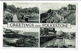 CPA- Carte Postale Royaume Uni - Greetings From Folkestone - Multivues -- VM2892 - Folkestone