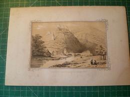 Vianden, Province De Luxembourg. Lithographie Originale Vers 1840. Grand Duché - Estampes & Gravures
