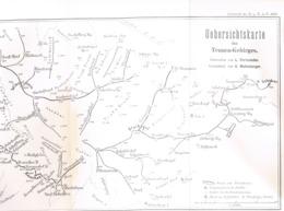 027 Karte Tennengebirge Alpenverein Beilage Zeitschrift 1884 !!! - Mapas Geográficas