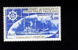 762527567 1982 SCOTT C71 POSTFRIS  MINT NEVER HINGED EINWANDFREI  (XX) FRENCH OVERSEAS POSSESIONS WEEK - COMMANDANT CHAR - Terres Australes Et Antarctiques Françaises (TAAF)