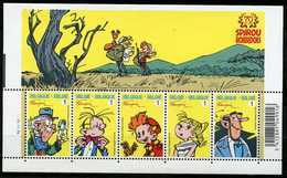 Blok 154** Robbedoes - Spirou - Bloc 3775/79** Feuille MNH - 70 Jaar Robbedoes / 70 Ans Aan Postprijs - Blocks & Sheetlets 1962-....