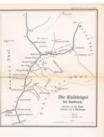 028 Karte Kalkkögel Innsbruck Alpenverein Beilage Zeitschrift 1884 !!! - Mapas Geográficas