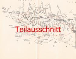 034-2 Karte Cordillera Real Alpenverein Beilage Zeitschrift  1929 !!! - Mapas Geográficas
