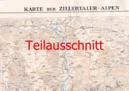 036 Karte Zillertaler Alpen Alpenverein Beilage Zeitschrift 1934 !!! - Mapas Geográficas