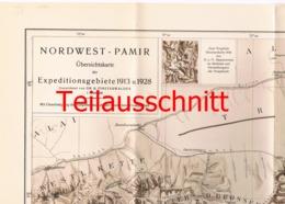 037-2 Karte Nordwest Pamir Alpenverein Beilage Zeitschrift 1929 !!! - Mapas Geográficas