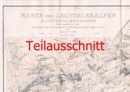 039 Karte Lechtaler Alpen Alpenverein Beilage Zeitschrift 1927 !!! - Mapas Geográficas