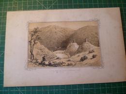 Esch-Sur-Sure. Luxembourg. Lithographie Originale Vers 1840. Grand Duché - Estampes & Gravures
