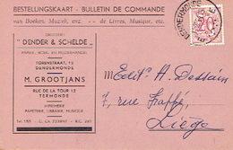 """PK Publicitaire DENDERMONDE 1954 - """"DENDER & SCHELDE"""" - D. GROOTJANS-WILLEMS - Drukkerij - Dendermonde"""