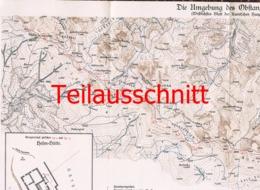 040-2 Karte Obstanzer See Alpenverein Beilage Zeitschrift 1927 !!! - Mapas Geográficas