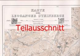 041 Karte Leoganger Steinberge Alpenverein Beilage Zeitschrift 1926 !!! - Mapas Geográficas