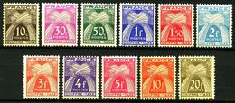 FRANCE TAXES Yv 67/77 MNH Neufs - - Taxes