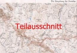 042-2 Karte Steinkar Porzehütte Alpenverein Beilage Zeitschrift 1926 !!! - Mapas Geográficas