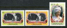 Grenada 1985 Life And Times Of Queen Elizabeth The Queen Mother Set MNH (SG 1426-1428) - Grenada (1974-...)