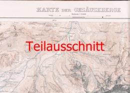 045-2 Karte Gesäuseberge Alpenverein Beilage Zeitschrift 1918 !!! - Mapas Geográficas